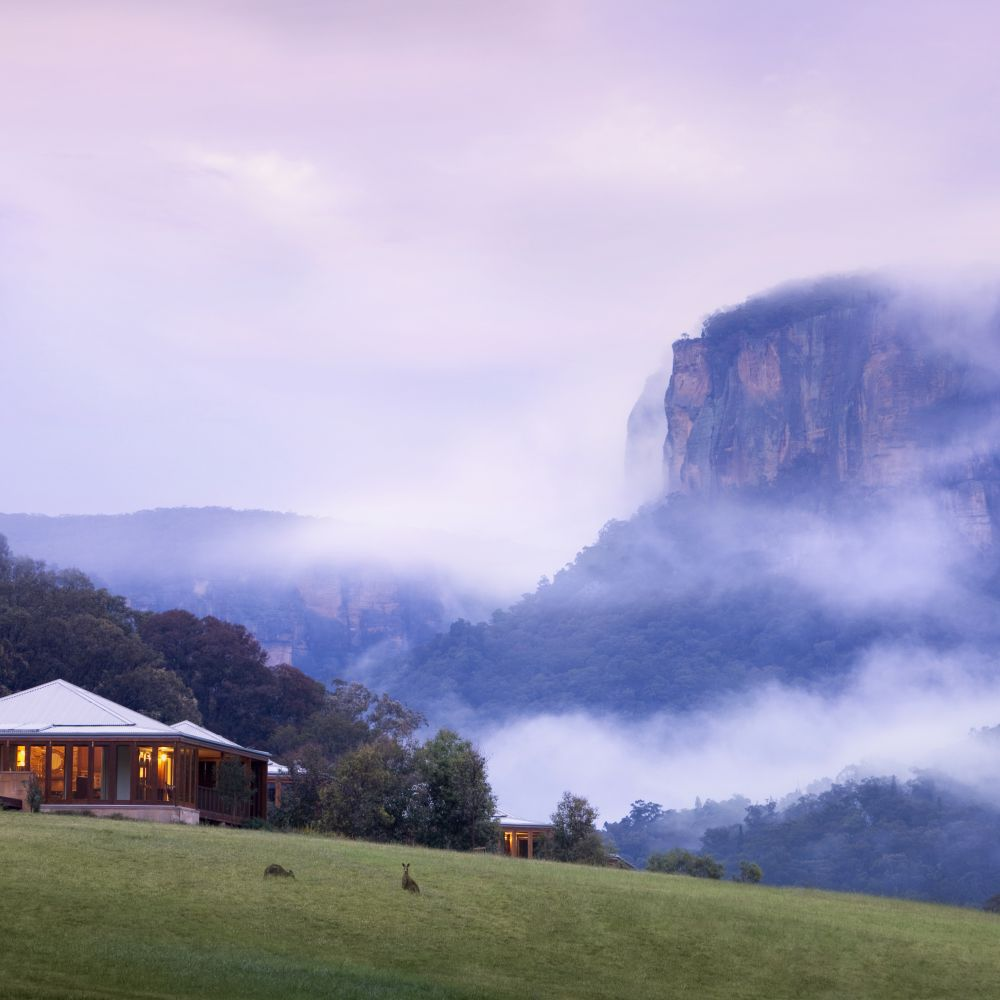 Emirates Wolgan Valley Blue Mountains Heritage Suite Misty Morning a